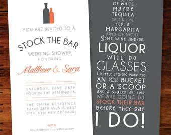 Stock The Bar Invitations - set of 18