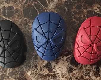 Superhero spider crayons