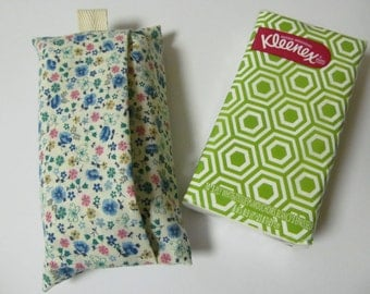 Tissue Case/Blue Flower And Butterfly