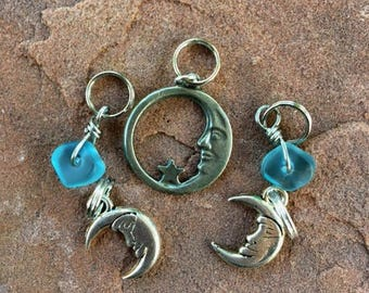 Crescent Moon Stitch Markers for Knitting
