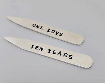 Collar stays, groom gift, luxury mens gift, sterling silver, shirt stays, groomsmen gift, handmade, anniversary gift