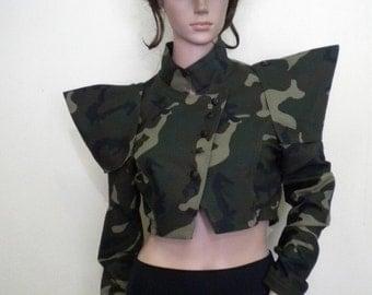 Extravagant camouflage bolero