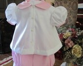 Infant Girls Shirt and bloomers set, Heirloom quality, 0-6 months, 6-12 months, 12-24 months