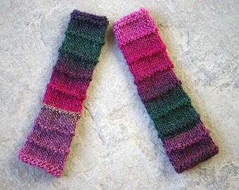 Knit fingerless glove, Fingerless gloves mittens, Long wool fingerless glove, Boho fingerless gloves, Multycolored fingerless arm warmer