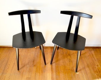 Mid Century Folke Palsson chairs for FDB Mobler, Made in Denmark