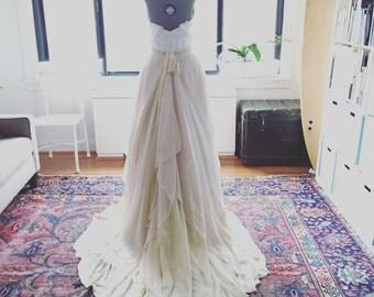 Catherine-Custom wedding skirt-Chiffon wedding skirt-Blush champagne wedding skirt-nude bridal skirt-wedding skirt