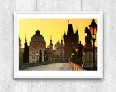 Charles Bridge, Prague, early morning. Unframed  Fine Art Photograph