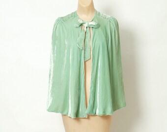 Vintage cape / Silk velvet cape / Crop cape / 1920s Silk Velvet / silk velvet / 1920s / Great gatsby / Edwardian cape / 20s jacket  flapper