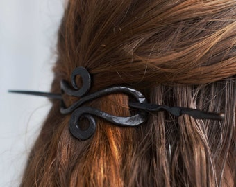 Hand-forged Hair Pin. Blacksmithed Accessories. For elegeant andcClassic hair styles