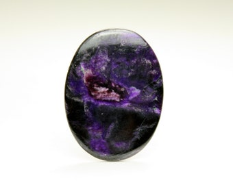Purple Royale Sugilite Oval Cabochon Stone, Ideal for jewelry design