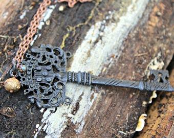 Weathered Key Necklace