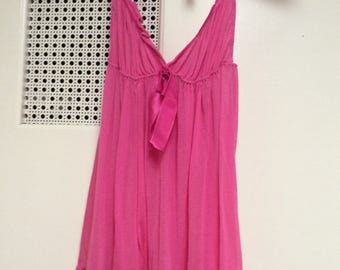 Victoria's SecretBaby doll short nighty gown ruffled hem flared small NWOT flaw see details