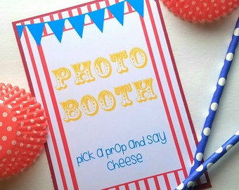 Carnival Party Signs - Carnival Birthday - Carnival Party Decorations - Carnival Party - Carnival Theme - Circus Party Decoration - 8x10