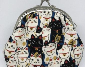Handmade Coin Purse - Japan Lucky Cat (P17051)
