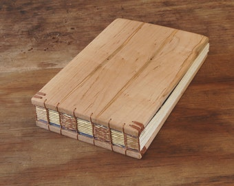 ambrosia maple wood wedding guest book vacation home cabin guest book  fall winter spring summer wedding memorial guestbook - ready to ship