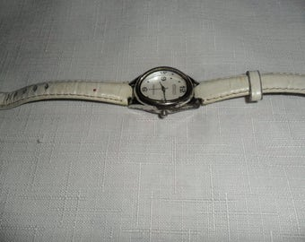 Vintage Sterling Silver Leather Band Watch by Ecclissi
