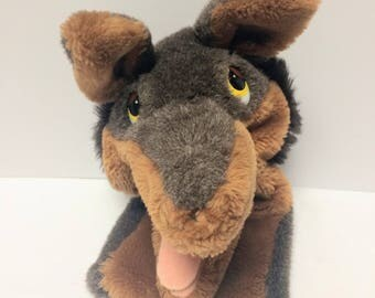 "Vintage 1983 Dakin 13"" Big Bad Wolf Hand Puppet. Little Red Riding Hood Wolf Hand Puppet"