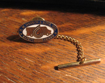 R.W. Harmon & Sons Tie Tac - Vintage School Bus Driver Safety Pin R W Harmon Inc