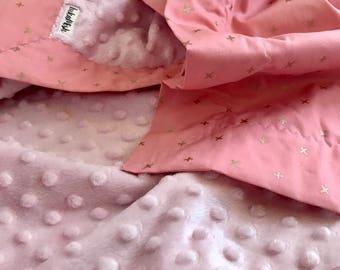 Cross My Heart Snuggle Blanket, bassinet and pram size minky baby blanket