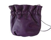 Carlos Falchi Purple Leather Handmade Crossbody Shoulder Bag Pouch Boho Chic
