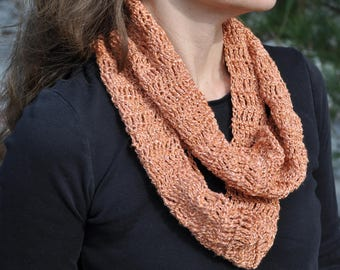 Lucky Penny crochet fashion scarf copper