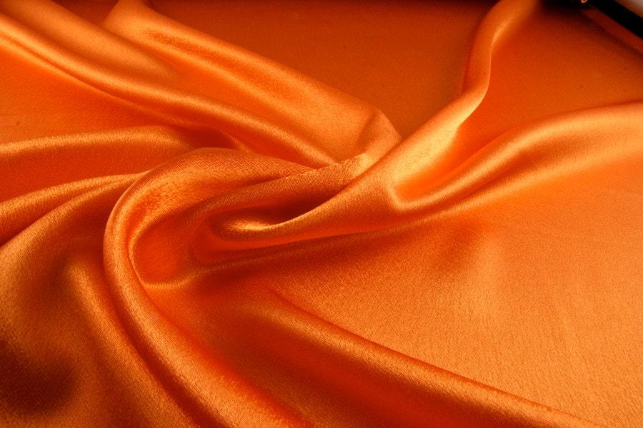Silk Satin Fabric Orange Silk Supplies Fabric By Yard Silk