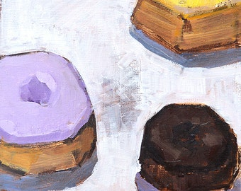 Donuts- Original Still Life Oil Painting