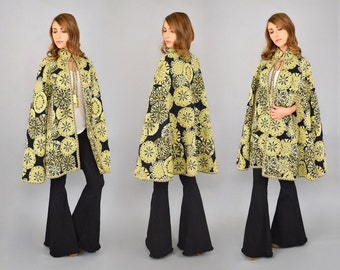 60's Woven Tapestry Cape / Cloak