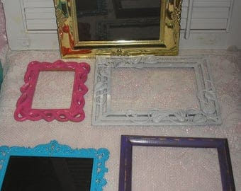 Collage Assorted Handpainted Picture Frames Lot 5