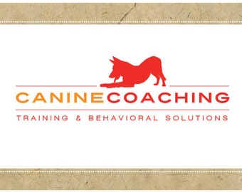 Custom Logo Design - PreDesigned Logo PreMade Logo - Vector Logo Design - OOAK Logo - CANINE COACHING Logo Design - Brand Design - Dog Logo