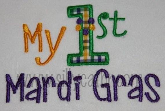 My First Mardi Gras Applique Design