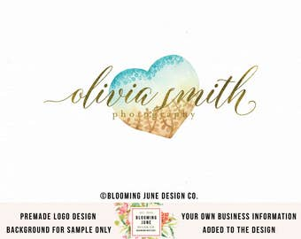 photography logo heart logo watercolor logo wedding logo premade logo photographers logo event planner logo gold foil logo boutique logo