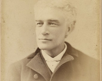 Antique Cabinet Photograph Distinguished looking man