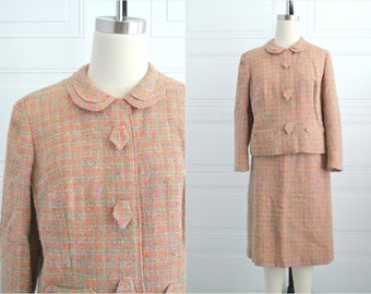 1960s Pastel Tailorbrooke Wool Tweed Jacket and Skirt