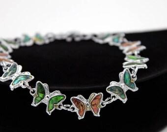 Butterfly Link Bracelet, 1980s