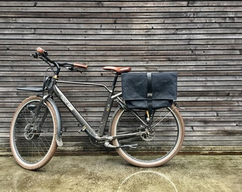 Motorbike bag / Motorcycle bag /  Bicycle bag in waxed canvas  /  Bike accessories