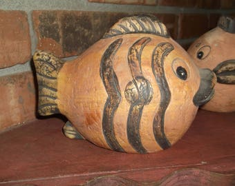 Clay Pottery Fish, Made in Mexico