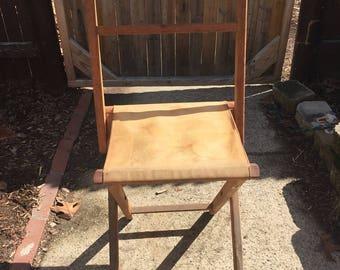 Vintage camper chair stool children child toddler campy outdoor bedroom fold up