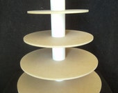 5 Tier Round Custom Made Cupcake Stand. Unfinished. Holds up to 80 Cupcakes.