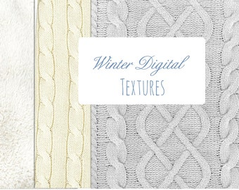 DIGITAL Clip Art Winter SWEATER KNIT Textures