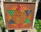 Vintage Chinese Checkers Gameboard.