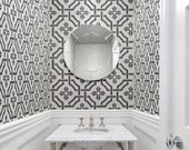 Trellis STENCIL - Wall or Floor Pattern - REUSABLE, Easy Wall Decor, DIY Home - Use with Paint