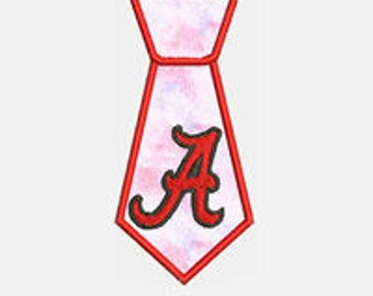 A Tie...Embroidery Applique Design...Three sizes for multiple hoops...Item1518...INSTANT DOWNLOAD