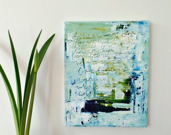 Original abstract painting, Blue painting, Wall art canvas, Contemporary art, Modern abstract art, Modern wall decor, Beach house wall decor