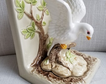 OMC Japan Dove in Tree Bookend