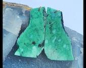 Nugget Green Turquoise Gemstone Earring Bead,56x29x4mm,21.2g