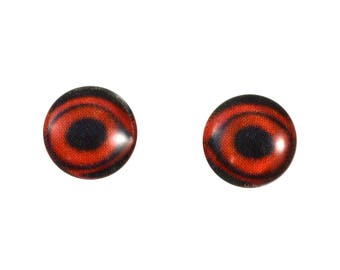 8mm Duck Glass Eyes - Round Animal Eyes - Pair of Glass Eyes for Doll, Sculpture, Taxidermy or Jewelry Making - Set of 2