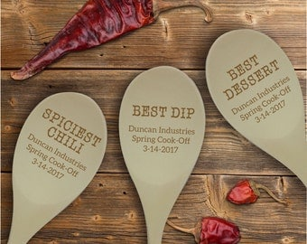 Rustic Cooking Contest Wooden Spoon Prize, Personalized Cook-Off Cooking Awards, Best Dessert Award, Best Dip Prize SP0206