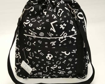 Sale! Anyway Anywhere Bag in Geekery Symbols, size Medium
