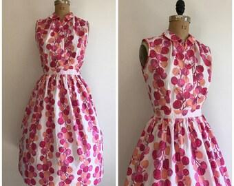 1950s Novelty Print Skirt Dress Set 50s Fruit Outfit Set